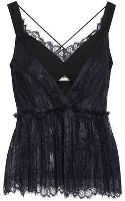 Self-Portrait Self Portrait Ruffle-trimmed Cutout Lace And Cady Camisole