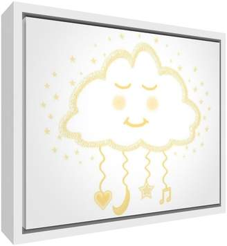 Camilla And Marc Feel Good Art Eco-Printed and Framed Nursery Canvas with Solid White Wooden Frame (44 x 34 x 3 cm Medium