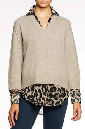 Brochu Walker V-Neck Printed Pullover