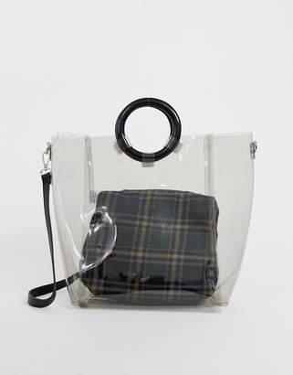 New Look perspex tote bag