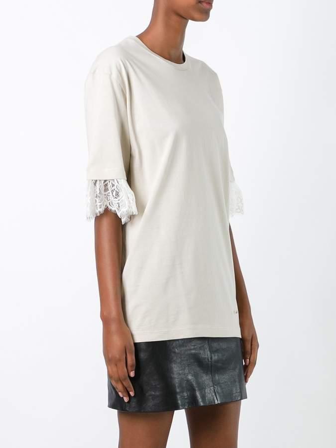 DSQUARED2 lace cuffs T-shirt