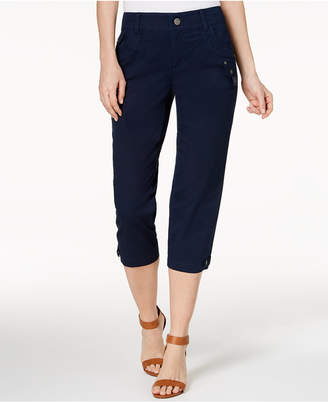 Style&Co. Style & Co Tab-Pocket Capri Pants, Created for Macy's