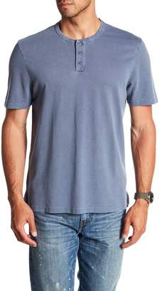 WALLIN & BROS Short Sleeve Garment Dyed Henley