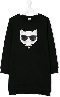 Karl Lagerfeld TEEN cat print dress