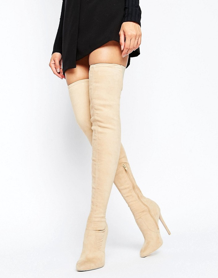 AsosASOS KAMBER Stretch Over The Knee Boots