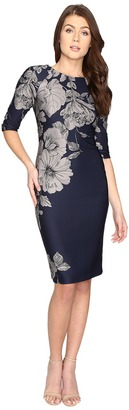 Christin Michaels Bay Floral Bodycon Midi Dress $94 thestylecure.com