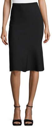 Diane von Furstenberg Straight Fluted Knit Skirt