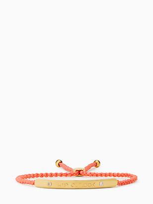 Kate Spade Say yes rosy outlook slider bracelet