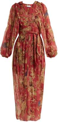 Zimmermann Melody Wrap floral-print silk dress
