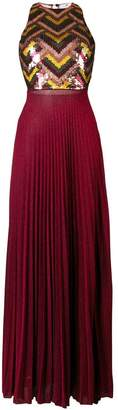 Elisabetta Franchi embellished pleated dress