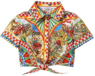 Dolce & Gabbana Carretto Print Cotton Poplin Shirt