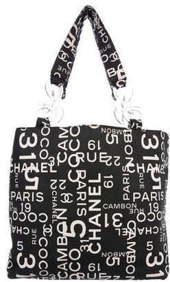 Chanel Printed Canvas Tote