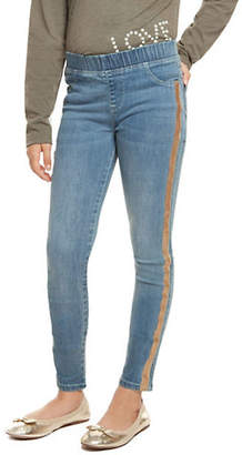 Dex Contrast-Trimmed Pull-On Jeans