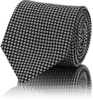 Brioni Men's Dot Silk Jacquard Necktie