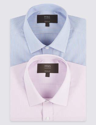 Marks and Spencer 2 Pack Short Sleeve Regular Fit Shirts