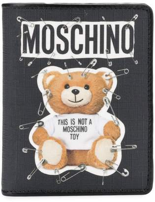 Moschino Teddy safety-pin print wallet