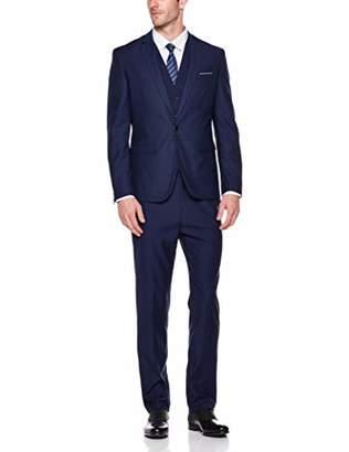 AUSTIN MILL Men's 3 Pieces One Button Slim Fit Suit