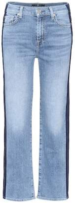 7 For All Mankind Kiki cropped wide-leg jeans