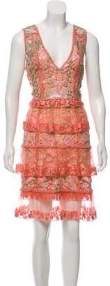 Marchesa Sleeveless Knee-Length Dress w/ Tags