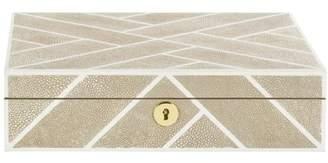 Safavieh SFV1518 Couture Ebba Shagreen Box with Key Hole