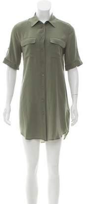 Equipment Silk Short Sleeve Button Up