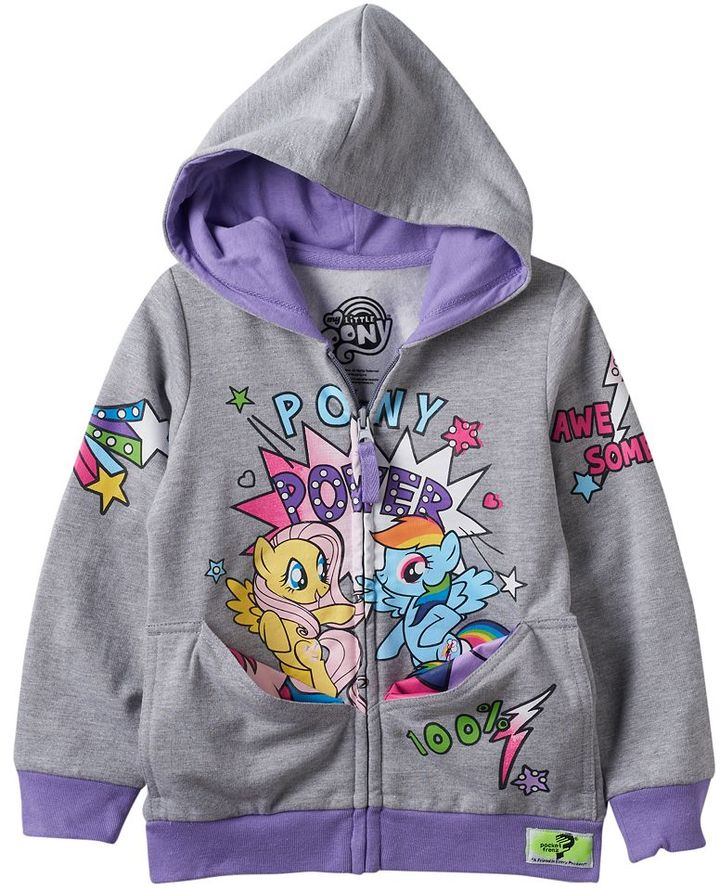 Toddler Girl My Little Pony Twilight Sparkle & Pinkie Pie Reversible Pocket Frenz Hoodie