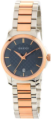 Gucci 27mm G-Timeless Bracelet Watch, Two-Tone
