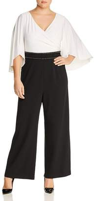 Adrianna Papell Plus Two-Tone Jumpsuit