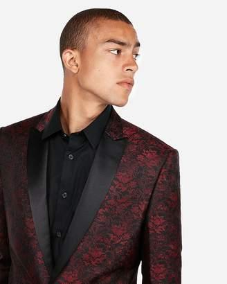 Express Slim Floral Jacquard Tuxedo Jacket