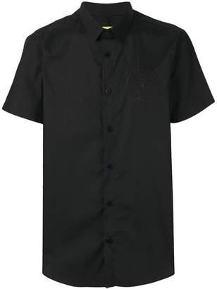Versace embroidered logo shirt