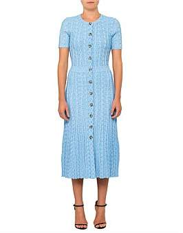 Altuzarra Abellia Short Sleeve Knit Dress