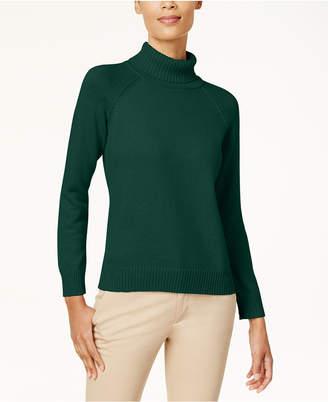 Karen Scott Cotton Turtleneck Sweater