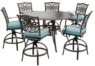Hanover Traditions 7-Piece High-Dining Set With 56 Cast-top Table