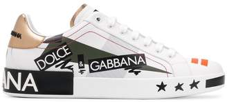 Dolce & Gabbana 'Love' print lo-top sneakers