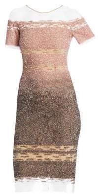 Pamella Roland Signature Sequin Sheath Dress