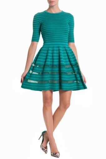 M MISSONI 3/4 Length Sleeve Dress - Aqua