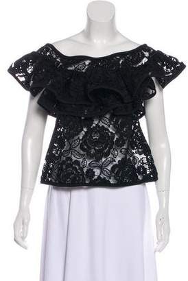Alexis Lace Ruffled Top
