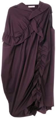 Marni draped asymmetric dress