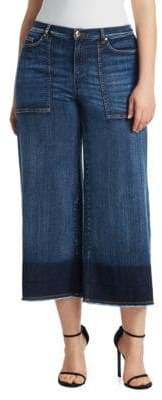 Marina Rinaldi Ashley Graham x Idioma Denim Super Stretch Cropped Pants