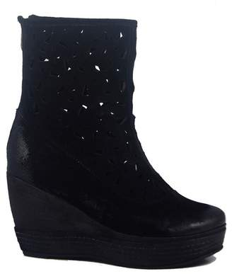 Antelope Lasercut Wedge Heel Ankle Boot