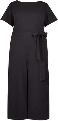 Dorothy Perkins Womens **Dp Curve Black Short Sleeve Belted Jumpsuit