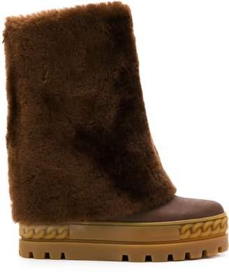 Casadei flatform boots