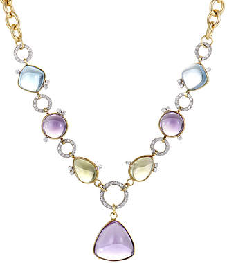 Roberto Coin 18K Two-Tone 18.00 Ct. Tw. Diamond & Gemstone Necklace