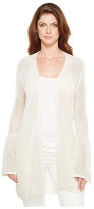 Calvin Klein - Bell Sleeve Cardigan with Lurex Women's Sweater $89.50 thestylecure.com