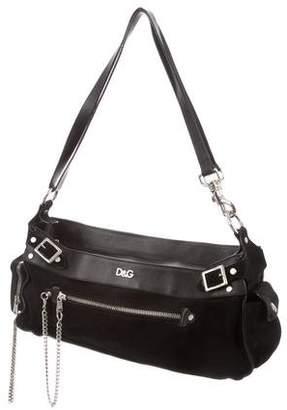 Dolce & Gabbana Leather-Trimmed Suede Bag