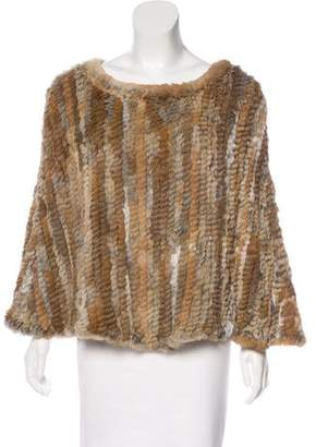 Saks Fifth Avenue Woven Fur Poncho
