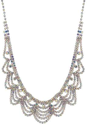 Mood - Silver Aurora Borealis Crystal Statement Necklace