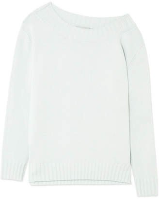 Vince One-shoulder Wool And Cashmere-blend Sweater - Sky blue