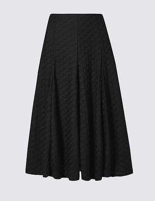 Marks and Spencer Textured Full Midi Skirt