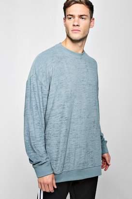 boohoo Oversized Sweater In Towelling